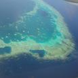 窓から見た珊瑚礁