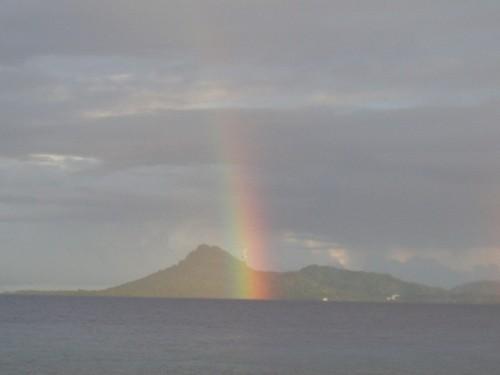 あっ、虹。