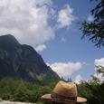 麦藁帽子と夏空
